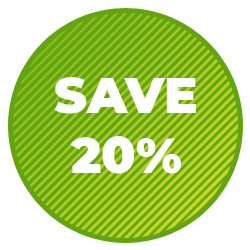 save 20% badge